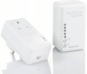 Сетевой адаптер Powerline Sagemcom Fast pack WiFi Plus EU (LAN по 220V)
