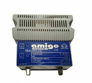 Усилитель домовой AMIGO M 800 P 30 (47-862 МГц, Ку=30 дБ, Рвых=117 дБмкВ) VECTOR