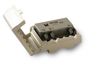 Мачтовый усилитель ALCAD АМ 102 (1 вход; UHF; Ку=23 дБ)