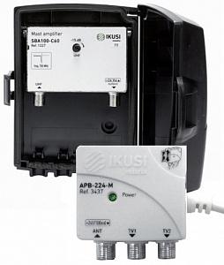 Комплект JSBA-100-C60, мачтовый усилитель IKUSI SBA-100-C60 и блок питания АРВ-224-M
